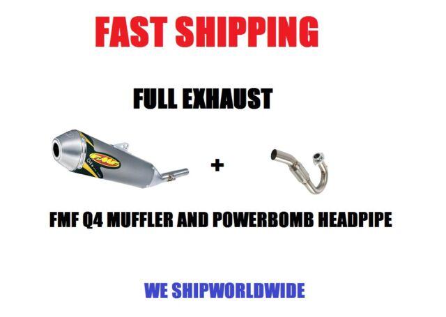 NEW FMF Q4 MUFFLER + POWERBOMB HEADPIPE FULL EXHAUST 07-11 YAMAHA WR450F WR 450F