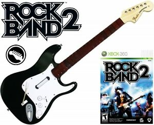 NEW Xbox 360 Rock Band 2 Wireless Fender Stratocaster Guitar
