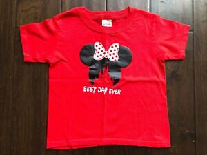 LITTLE-GIRL-039-S-034-BEST-DAY-EVER-034-DISNEY-SHIRT-MINNIE-MOUSE-RED-BLACK-WHITE-SIZE-4T