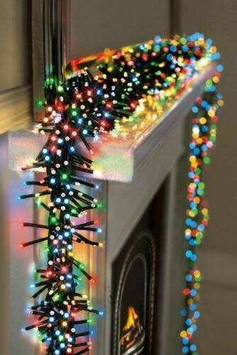 360 Multi Coloured LED Cluster String Lights Christmas Tree Decoration Fairy