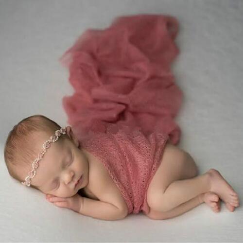 Stretch Newborn Boy Girl Baby Photography Props Wrap Yarn Cloth Blanket WT