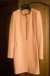 And Jacket Collar Size Belt Women 40 Elizabeth With Coat Franchi fBxqY