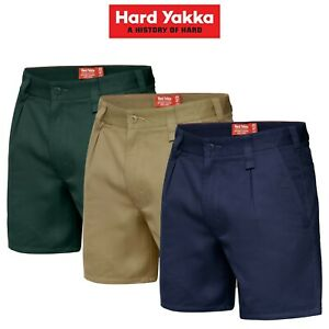 Mens-Hard-Yakka-Drill-Short-Belt-Loop-Shorts-Cotton-Work-Tough-Trade-Y05350