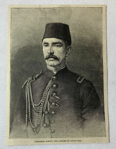 1885-magazine-engraving-TCHERKESS-HASSAN-Avenger-Of-Abdul-Aziz