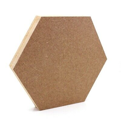 Free Standing 18mm MDF Hollow Hexagon Craft Shape Various Sizes Beehive Bee