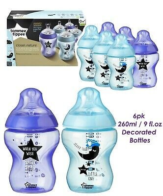 2-pack Bundle Tommee Tippee Closer to Nature 260 ml//9fl oz Feeding Bottle Medium Flow Teats