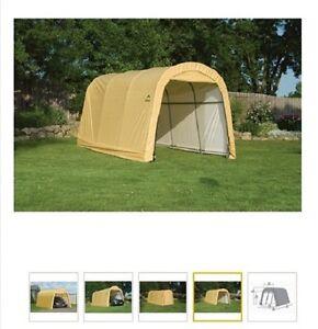 Details about ShelterLogic 10x15 Storage Shelter Portable Garage Steel  Carport Canopy 62689