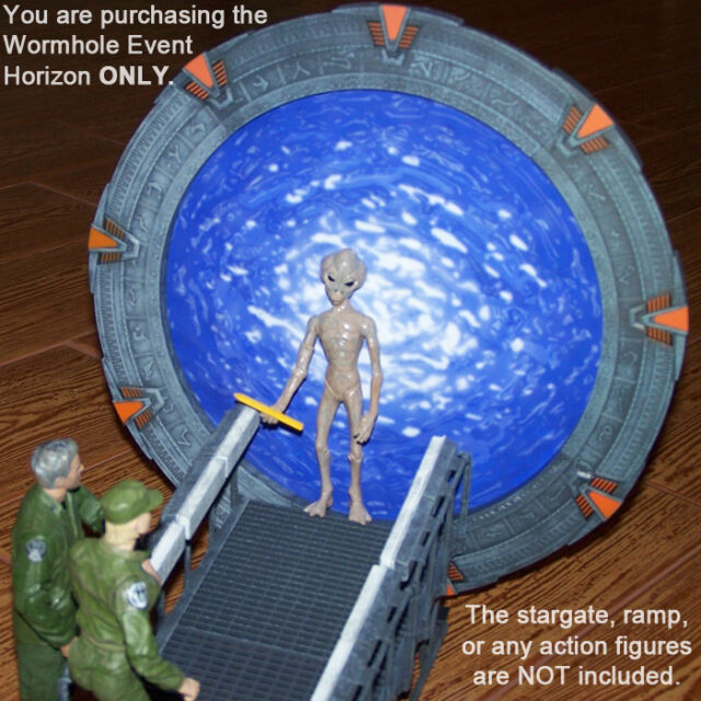 9.5 inch WORMHOLE Event Horizon Photo Insert for DST Diamond Select Stargate SG1