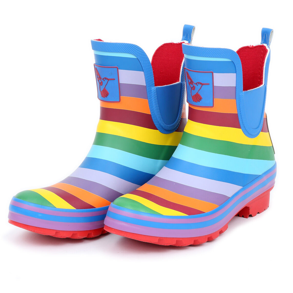 Evercreatures Rainbow Rain Boot Ankle Mid-Calf Knee-high Waterproof Boot