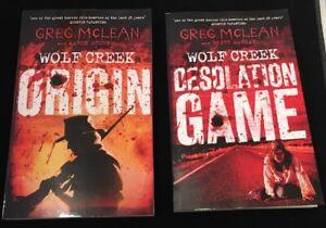 NEW 2 BOOKS Wolf Creek Origin (Book 1) AND Desolation Game (Book 2) Greg Mclean
