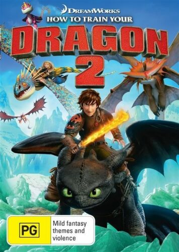 1 of 1 - How To Train Your Dragon 2 (DVD, 2014) Region 4  Animated DVD Rate PG X RENTAL