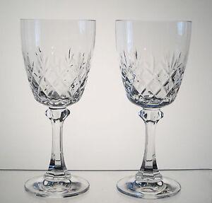 TRADITION-SPIEGELAU-aka-CANTERBURY-BELKRAFT-Wine-Glasses-6-3-8-034-PAIR