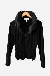 Joseph-Ribkoff-Blouse-Jacket-Black-Size-USA-12-UK-14