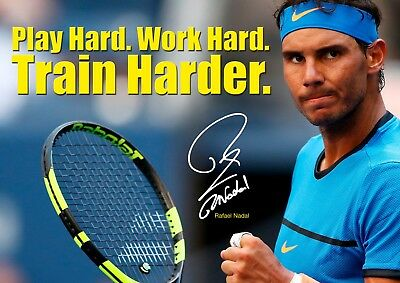 Rafael Nadal Poster 23 Motivational Quotes Tennis Champion A3 Poster Ebay