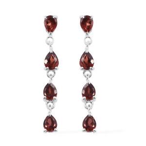 925-Sterling-Silver-Pear-Garnet-Tear-Drop-Dangling-Earrings-for-Women-Ct-1-7