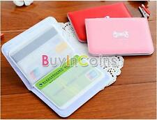 Cute Women Bowknot Business ID Credit Card Pocket Bag Wallet Holder Case Oyster