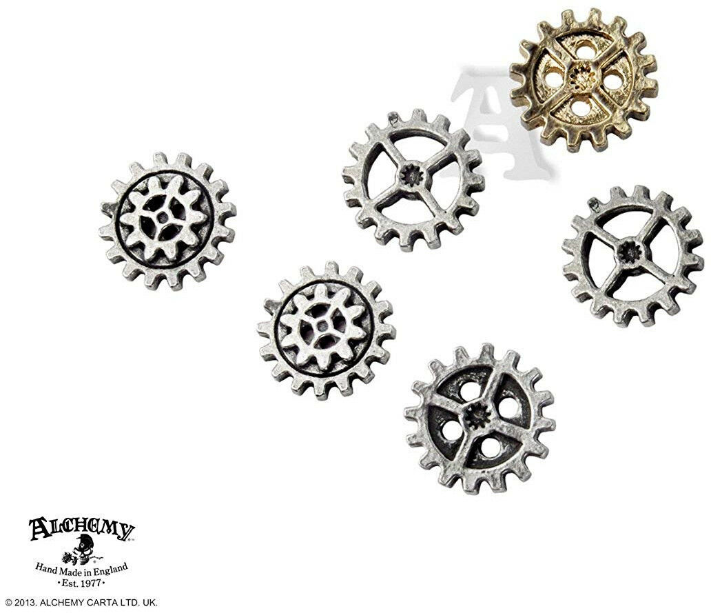 Gearwheel - Small Shirt Buttons By Alchemy Empire  Steampunk