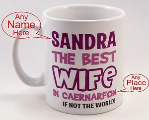 Image Is Loading Birthday Gift Idea Best Wife Hubby Personalised Mug