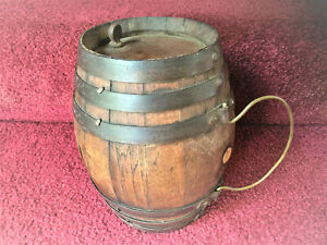 Antique Primitive Wooden Rundlet Rumlet Keg AAFA