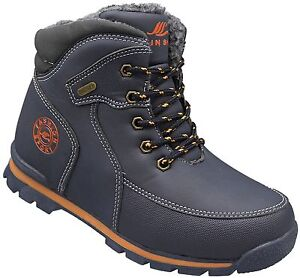 50098ad090bf5b Das Bild wird geladen Jungen-Schuhe-Kinder-Winter-Stiefel-Boots-warm -gefuettert-
