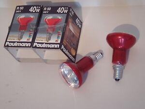 Ampoule-spot-reflecteur-R50-rouge-argent-clair-PAULMANN-SUDRON-E14-40W-NEUF