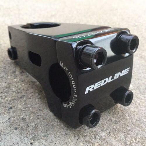 Redline Hollowpoint Stem Black Front Load 1 1//8 Threadless BMX Bike Stems 50mm