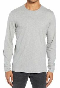 Rag-amp-Bone-Mens-T-Shirt-Gray-Size-Medium-M-Slim-Fit-Crewneck-Long-Sleeve-95-225