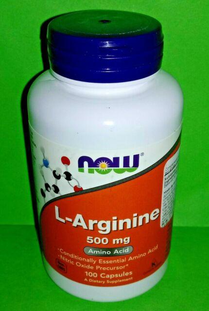 L-ARGININA 500mg 100 capsulas Now Foods