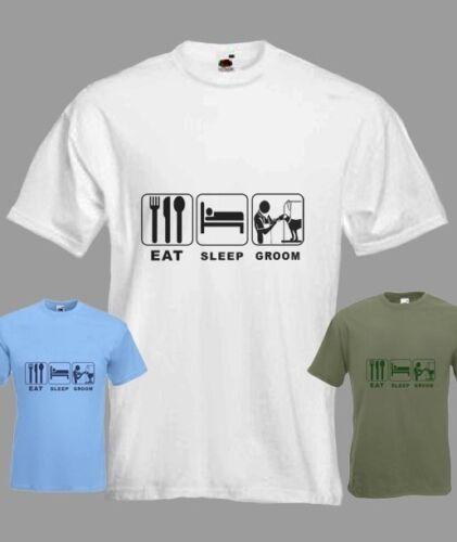 Eat Sleep chien toiletteur Drôle T-shirt dans toutes les tailles et choix de couleurs