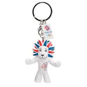 PRIDE THE LION - TEAM GB MASCOT KEYRING - LONDON 2012 OLYMPICS - NEW