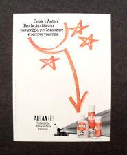 [GCG] M979 - Advertising Pubblicità - 1984 - AUTAN DIFENDE DALLE ZANZARE