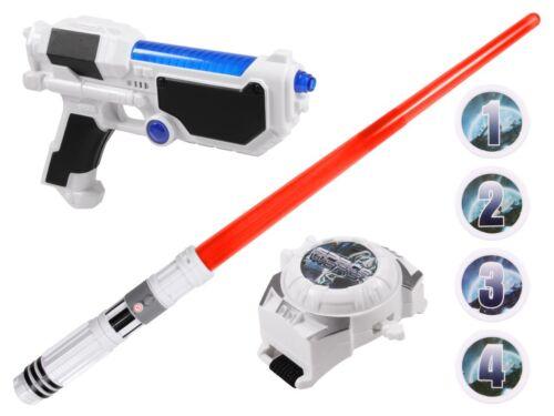 Jeu Kit De Lumière-épée laser pistolet sound Bracelet-montre de tir-montre space wars