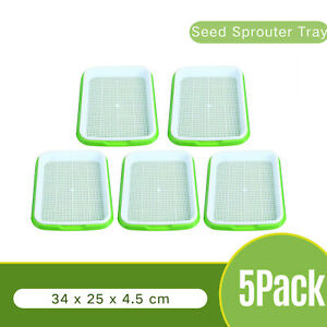 NEW! 5Pack Seedling Starter Tray Seed Germination Plants for Garden Home Office