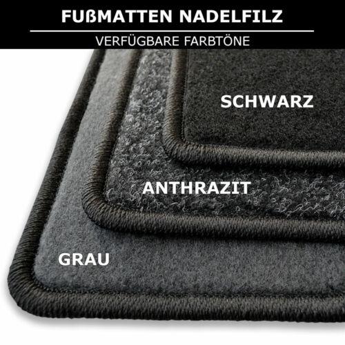Alfombras tapices adecuado para mercedes//8 w115 1968-1977 antracita aguja fieltro 4tlg
