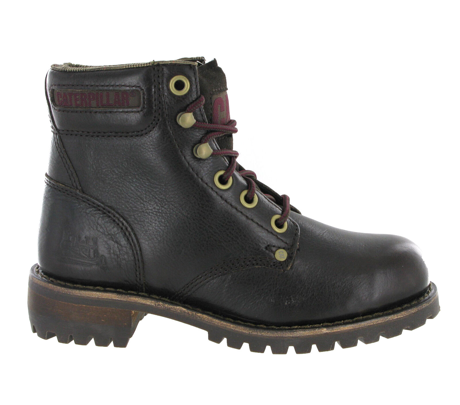 CAT Caterpillar Sequoia Leather Ankle Womens Fashion Walking Lace Up Boots UK3-8
