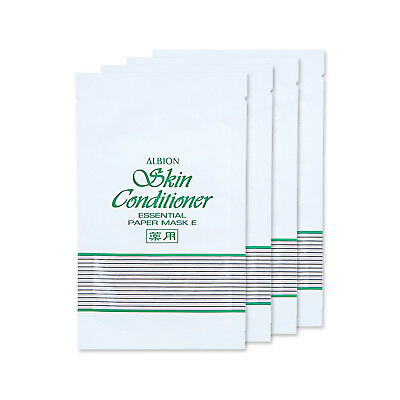 4 PCS Albion Skin Conditioner Essential Paper Mask E 12ml/Sheet JAPAN Skincare