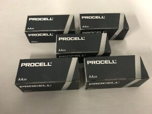 120 New AA Procell Alkaline Batteries by Duracell PC1500 EXP 2026 or Later