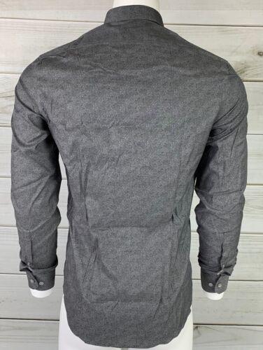 New DKNY Men/'s Button Down Slim Fit Stretch Gray Dress Shirt NWT MSRP $85 B1818
