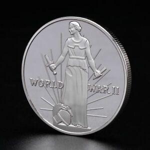 World-War-2th-United-States-Commemorative-Coin-Souvenir-Crafts-Alloy-Silver-Gold