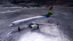 * Herpa Wings 530439 Air Seychelles Airbus A320 - S7-AMI 1:500 Scale - Wroclaw, Polska - Zwroty są przyjmowane - Wroclaw, Polska