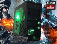 Amd Quad-core Gaming Desktop Pc Computer 16gb 2tb Hdmi Custom Built System
