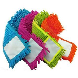 Chenille-Floor-Cleaner-Microfiber-Mop-Head-New-Extendable-Replaceable ...