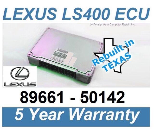 89661 50142 Rebuilt LS400 ECU, ECM w/ 5 yr. warranty, no reprogramming needed