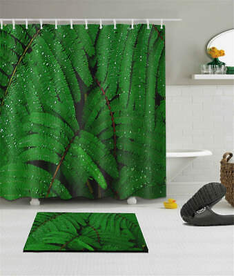 Parrot Leaves Waterproof Bathroom Polyester Shower Curtain Liner Water Resistant