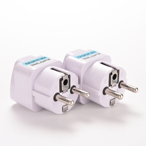 Blanc AU / US / UK à UE Euro Plug AC Chargeur Voyage AdapNBteur Convertisseur IT