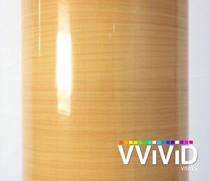 "VViViD Wood Grain Gloss Vinyl Wrap Architectural Decor Red Cedar DIY 2ft x 48/"""