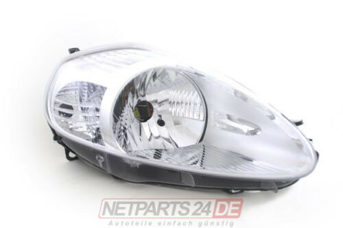 Fiat Grande Punto ab 08 LWR Frontschein Motor f Scheinwerfer m H4 Silber re
