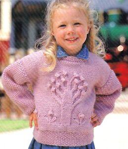 Aran knitting pattern baby children apple tree sweater 20 28 image is loading aran knitting pattern baby children apple tree sweater dt1010fo