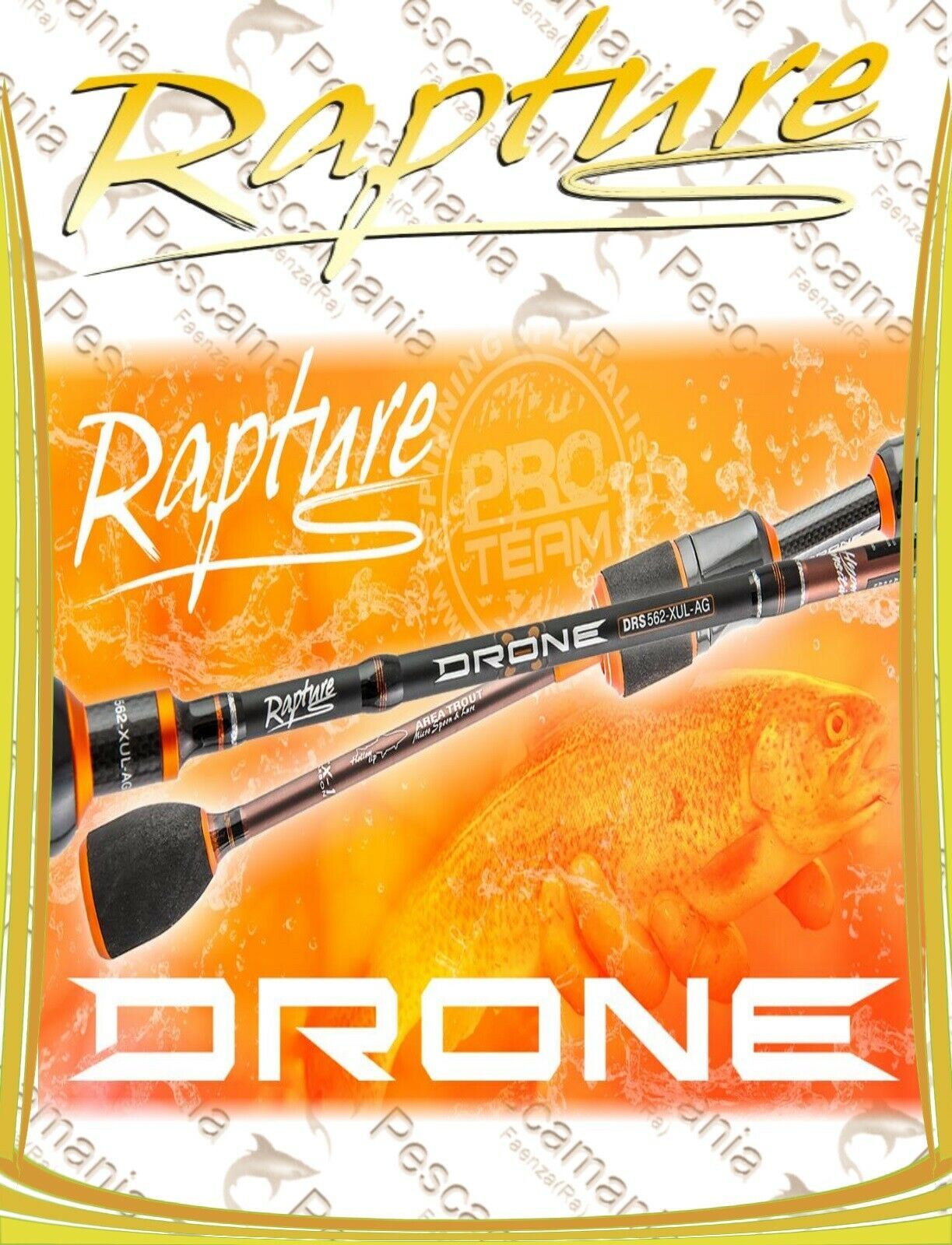 Canna spinning Rapture DRONE Light spinning Area Special trout trojoa