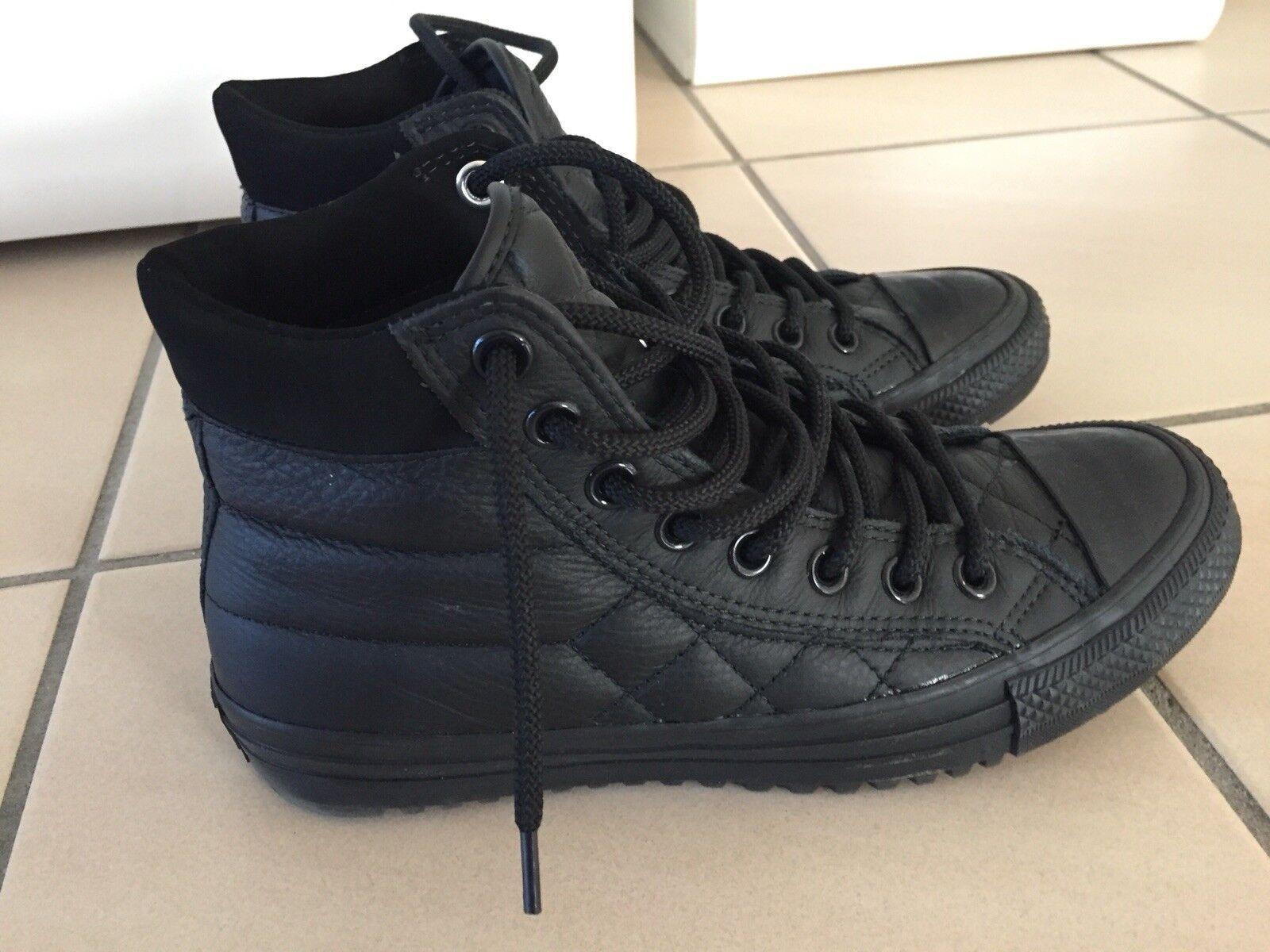 Billig gute Qualität Schwarz Converse Chucks 39.5 Leder Schwarz Qualität 624e75